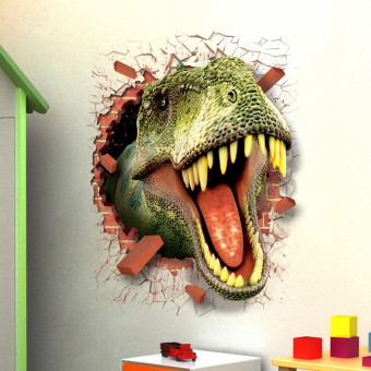 BolehDeals 3D Dinosaur Head Wall Sticker Decal