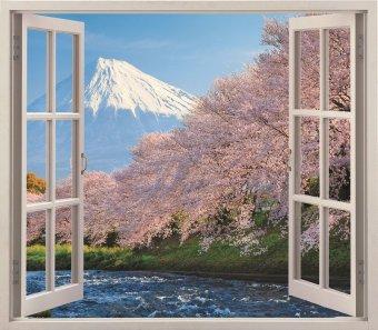 Tranh dán tường cửa sổ 3D 110 x 90cm VTC VT0002B