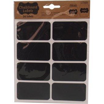 Bộ 24 Nhãn dán màu đen Uncle Bills SL0230 7.5x4cm (Đen)