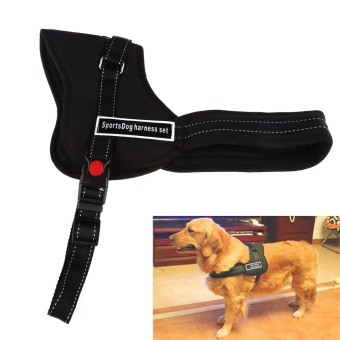 Mua Comfortable Medium Large Size Dog Pet Adjustable Soft Chest Harness Black L (Intl) giá tốt nhất