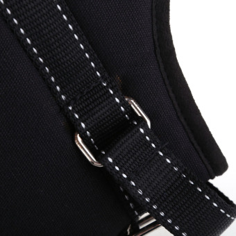 Comfortable Medium Large Size Dog Pet Adjustable Soft Chest Harness Black L (Intl)