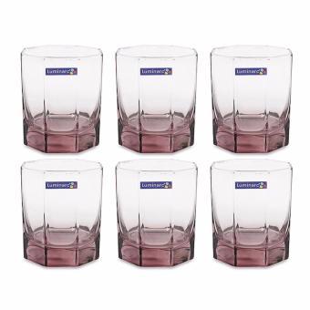 Bộ 6 ly thủy tinh thấp Luminarc Octime Ice Pink 300ml J4507