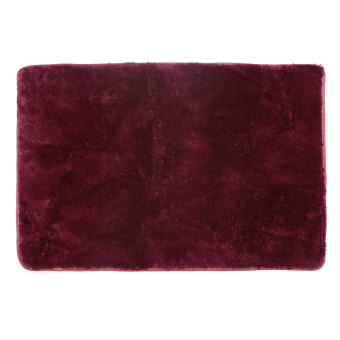 Shaggy Anti-skid Carpets Rugs Floor Mat/Cover 80x120cm Claret Wine Red (Intl)