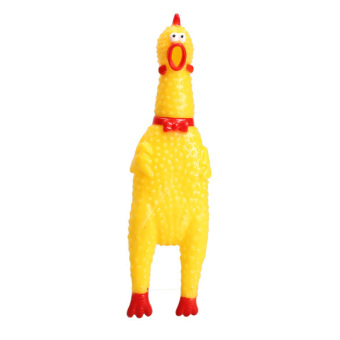 Funny Chicken Sound Squeeze Screaming Toy (Intl)