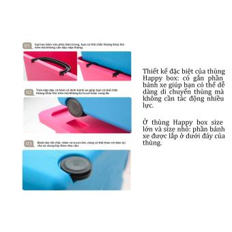 Thùng nhựa Happy Box Yuwon PS YW-01 (Xanh da trời)