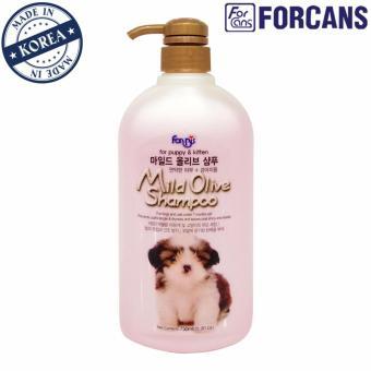 Dầu gội cho thú cưng chiết xuất Olive Forcans 750ml