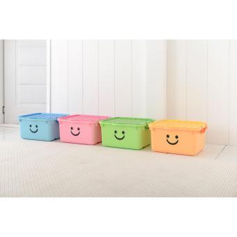 Thùng nhựa size lớn Happy Box Yuwon PS YW-14 (Hồng nhạt)