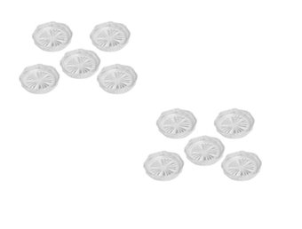 Bộ 10 miếng đế lót ly trong kim cương Rico (Trắng)