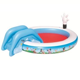 Bộ bơi phao liên hoàn cầu trượt Bestway 91014