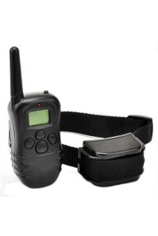 Moonar Electric Shock Vibration Remote Pet Training Collar Black - Intl