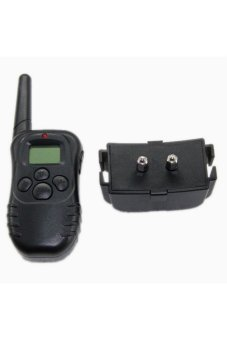 Moonar Electric Shock Vibration Remote Pet Training Collar Black - Intl
