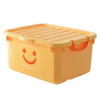 Thùng nhựa size lớn Happy Box Yuwon PS YW-15 (Vàng nhạt)