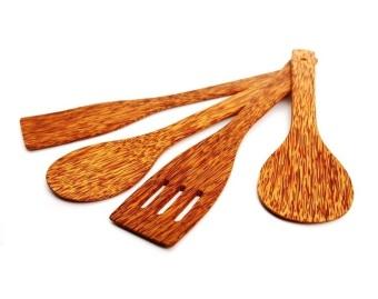 Bộ 4 món nấu bếp bằng gỗ dừa Nhà cung cấp Coconut Wood