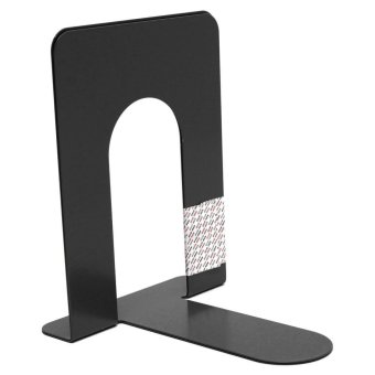 1 Pair Heavy Duty Metal Book Ends Shelf Bookends Holder Office School Stationery - intl