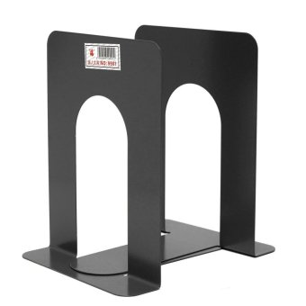 Mua 1 Pair Heavy Duty Metal Book Ends Shelf Bookends Holder Office School Stationery - intl giá tốt nhất