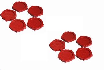 Bộ 10 miếng đế lót ly nhựa hoa mai Rico (Đỏ)