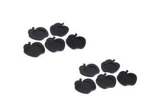 Bộ 10 miếng đế lót ly nhựa trái táo Rico (Đen)