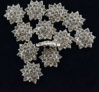 BolehDeals 10pcs Clear Crystal Rhinestone Flower