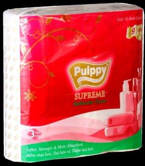 Giấy vệ sinh Pulppy Supreme 3 lớp