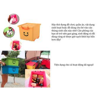 Thùng nhựa size lớn Happy Box Yuwon PS YW-16 (Xanh lá cây nhạt)