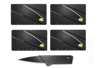 Bộ 5 dao du lịch bỏ ví hình thẻ ATM loại 1 (Đen)