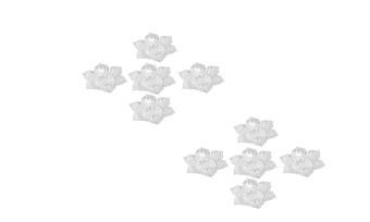 Bộ 10 miếng đế lót ly trong hoa mai Rico (Trắng)