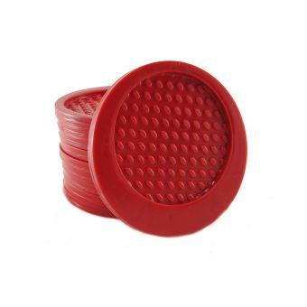 Bộ 10 miếng đế lót ly Rico (Đỏ)