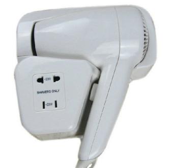 Máy sấy tóc treo tường kiêm ổ cắm TS-92003GF (Trắng)
