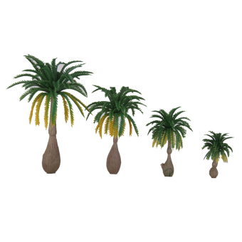 12pcs Layout Model Train Coconut Palm Trees Rain