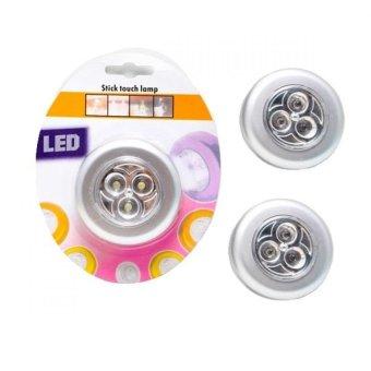 Bộ 3 đèn led loại 4 bóng dán tường Huy Linh (trắng)