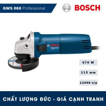 Máy mài góc Bosch GWS 060 Professional (670W) - - Hãng phân phối chính thức