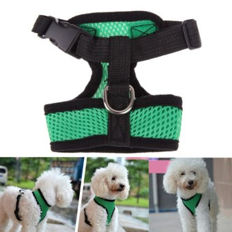 Mua Soft Mesh Dog Harness Pet Puppy Cat Clothing Vest Green L (Intl) giá tốt nhất