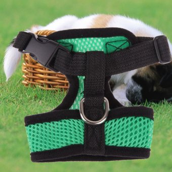Soft Mesh Dog Harness Pet Puppy Cat Clothing Vest Green L (Intl)
