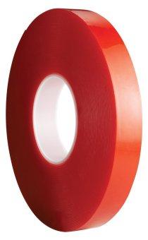 Băng keo 2 mặt trong suốt Acrylic Foam Tapes AFT 24mmx10m (Đỏ)