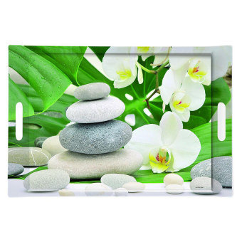 Khay chữ nhật họa tiết hoa đá Nuova 300 MDI- Meditation