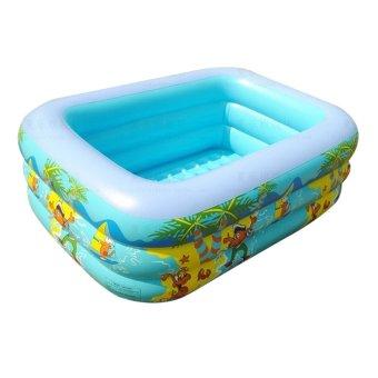 Hồ bơi 3 tầng cho bé 130x100x55cm(xanh dương)