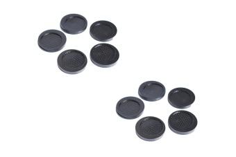 Bộ 10 miếng đế lót ly nhựa tròn Rico (Đen)