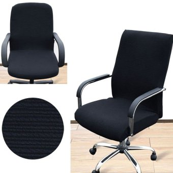 Mua Arm Chair Cover Three Sizes Office Computer Chair Cover Side Zipper Design Recouvre Chaise Stretch Rotating Lift Chair Cover - intl giá tốt nhất