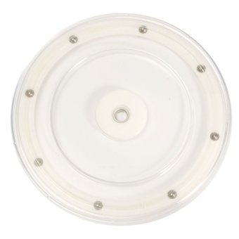 new 9'' Plastic Rotating Bearing Turntable Round Swivel Plate Home Display Base - intl