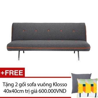 Sofa giường cao cấp Klosso M3 (Đen) + Tặng 2 gối sofa vuông Klosso 40x40cm màu sắc ngẫu nhiên