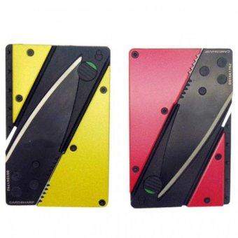 Bộ 2 dao gấp hình thẻ ATM cán thép màu