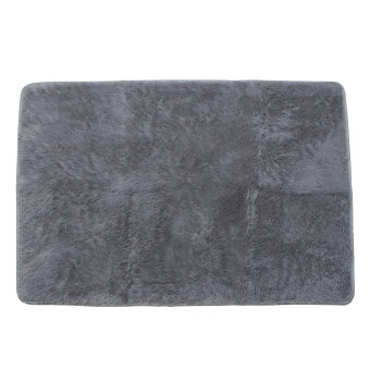 Shaggy Anti-skid Carpets Rugs Floor Mat/Cover 80x120cm (Grey)