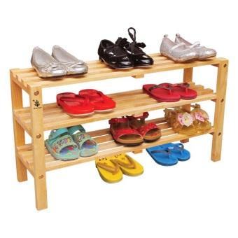 Kệ giày trẻ em 3 tầng màu tự nhiên Gỗ Đức Thành 49371K ...