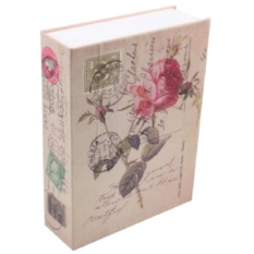 Két sắt mini giả sách khóa số - Hoa Hồng