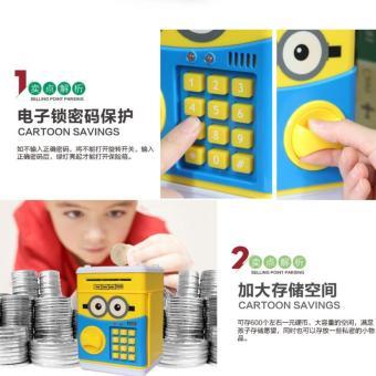 Két sắt mini hình thú có đèn soi tiền giả dùng mã số