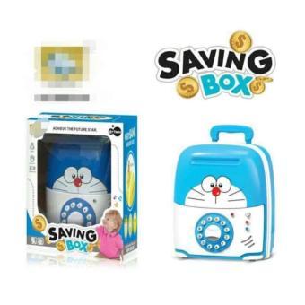 Két sắt mini kiêm vali kéo hình Doraemon
