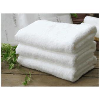 Khăn tắm cao cấp 100% cotton BHOME size vừa 60x120cm ( Trắng)