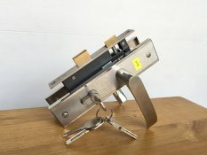 Khóa cửa gỗ tay gạt inox - JEP - MC48