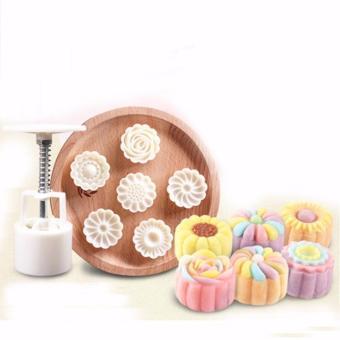 Khuôn làm bánh ngọt - bánh trung thu hình tròn 6 khuôn