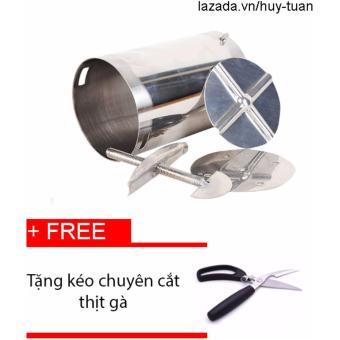Khuôn Làm Giò Inox 2Kg + Free Kéo Cắt Thịt Chuyên Dụng (Gà, Vịt,...)